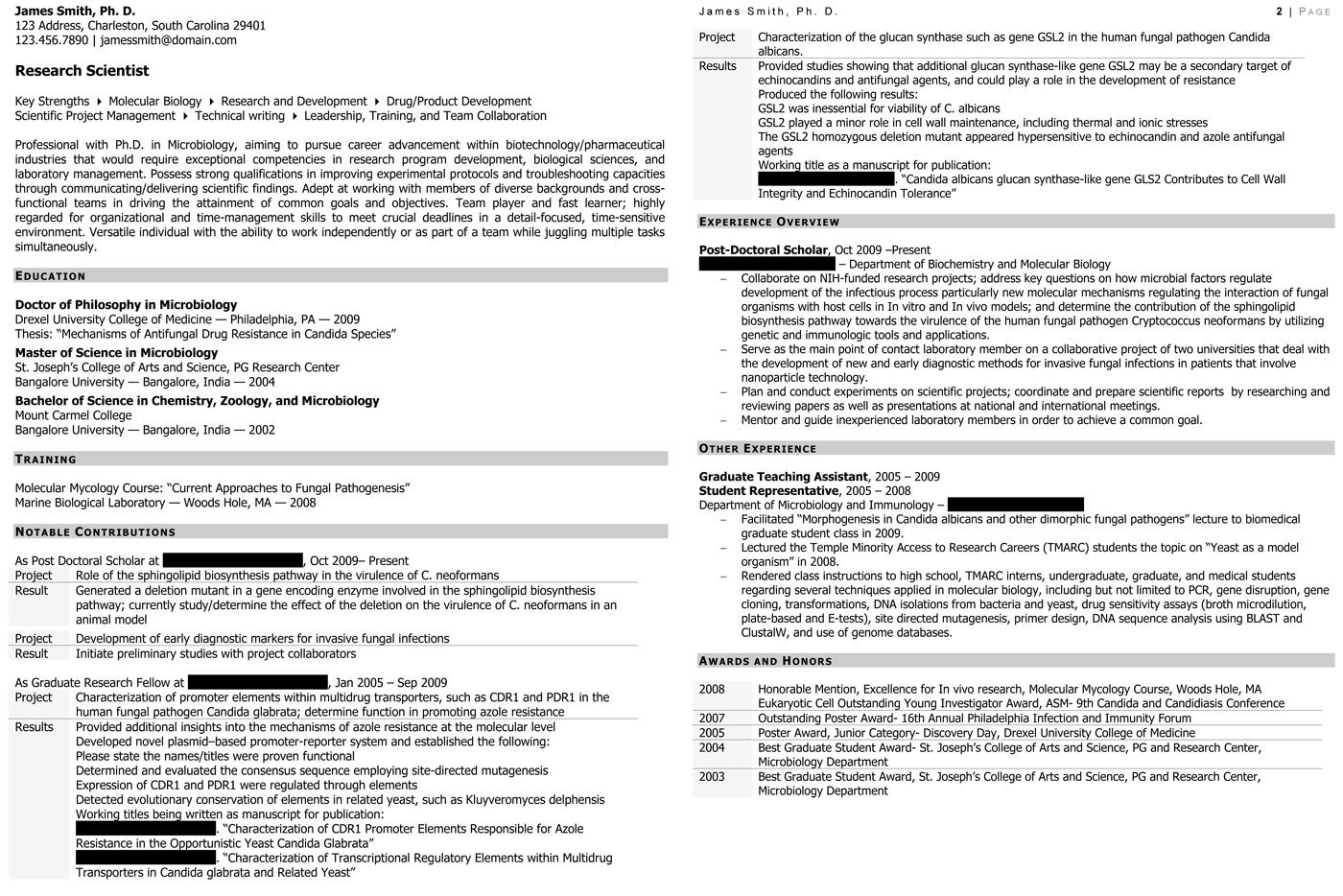 sample civilian and federal resumes resume valley research scientist resume