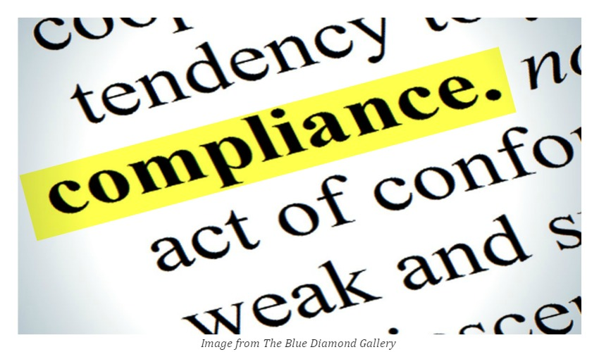 """yellow highlight on the """"compliance"""" word"""
