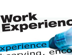 how to write work experience in a resume