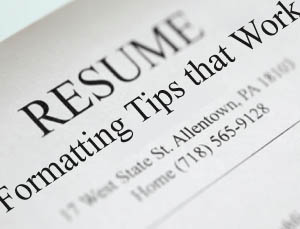 A list of resume formatting tips that work
