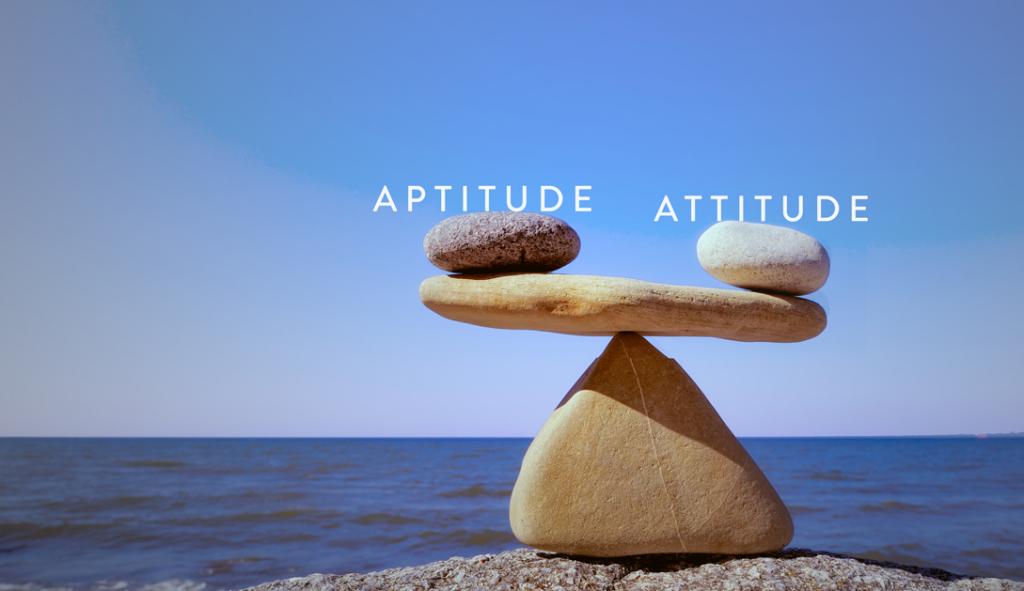skills weigh higher than attitude