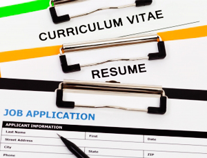 curriculum vitae, resume, and job application form