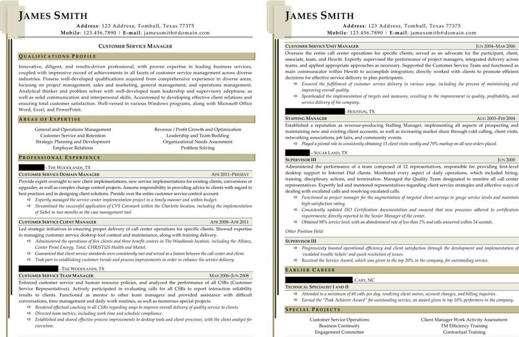 Contact center manager resume sample