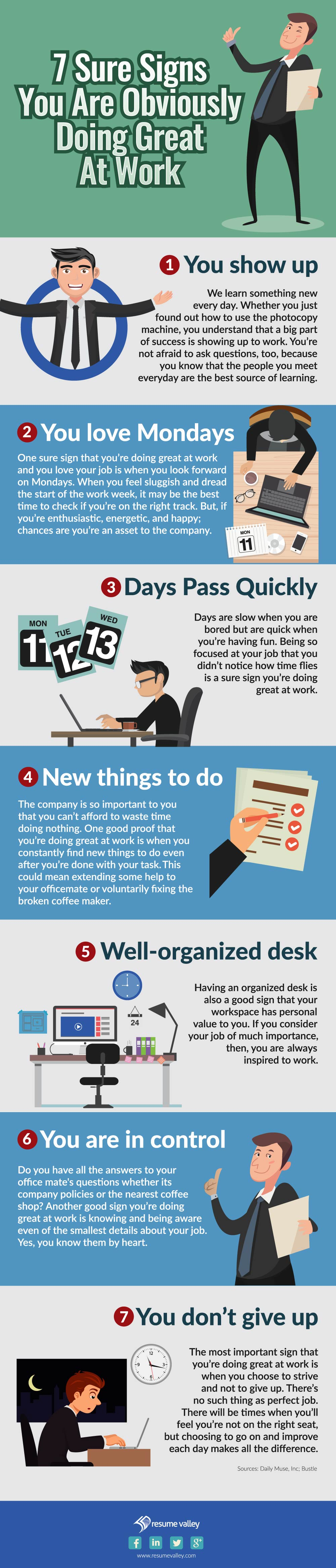 doing great at work: infographic