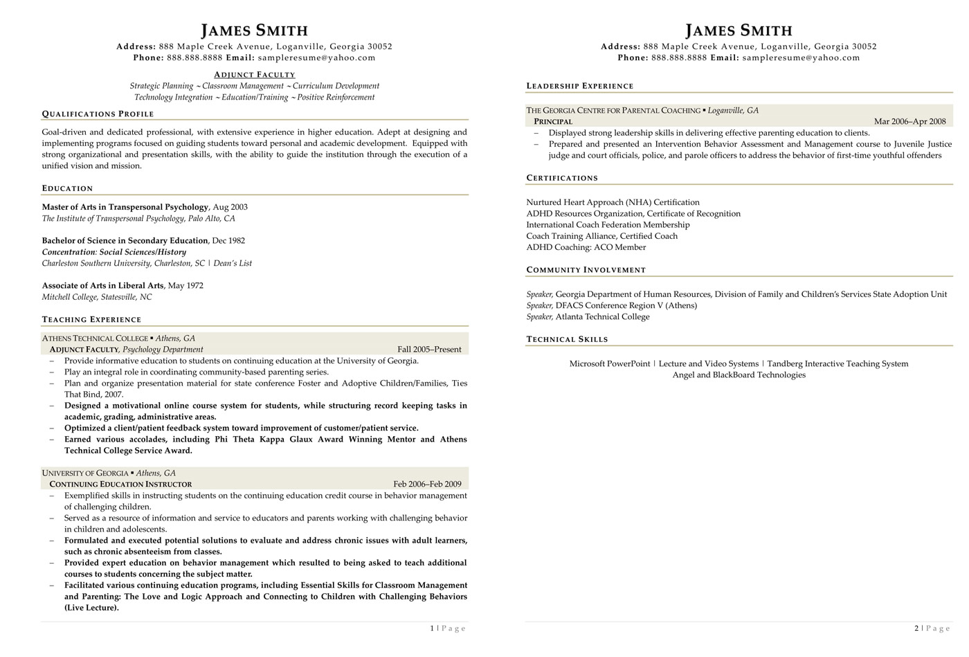 assistant professor resume - Research Assistant Sample Resume