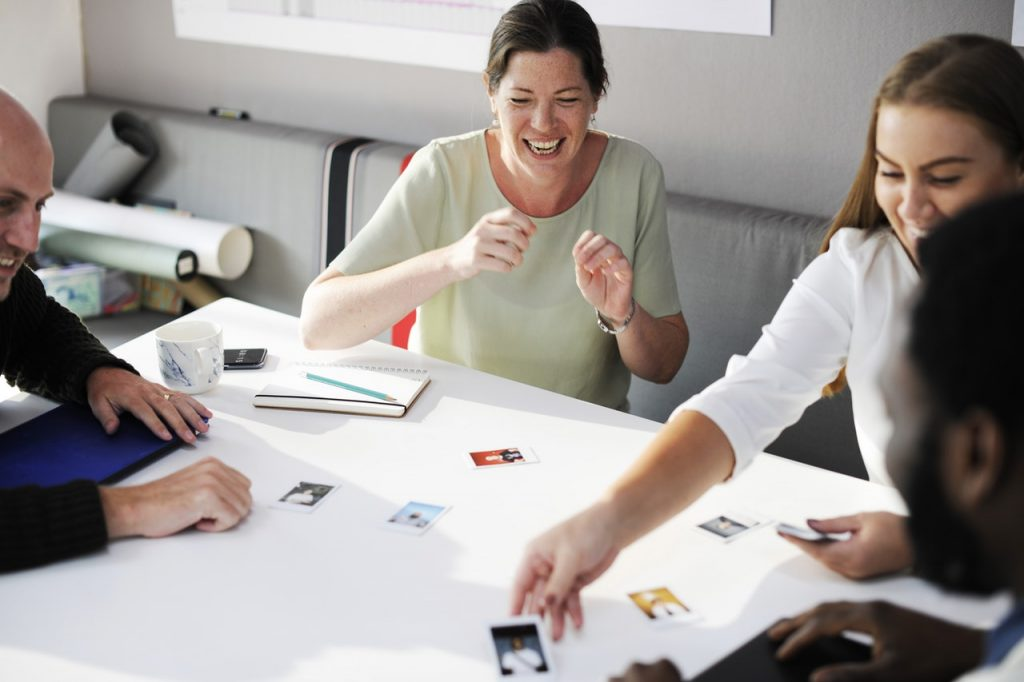 people enjoying gender equality in the workplace