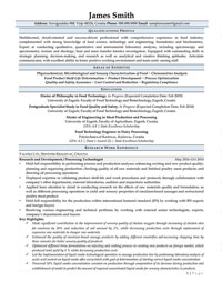 Processing Technologist Sample Resume