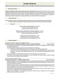 R and D Professional Sample Resume