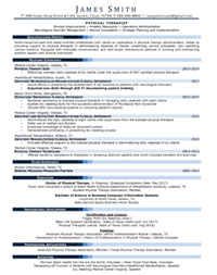 Physical Therapist Sample Resume