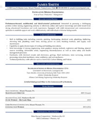 Entry Level Engineer Sample Resume