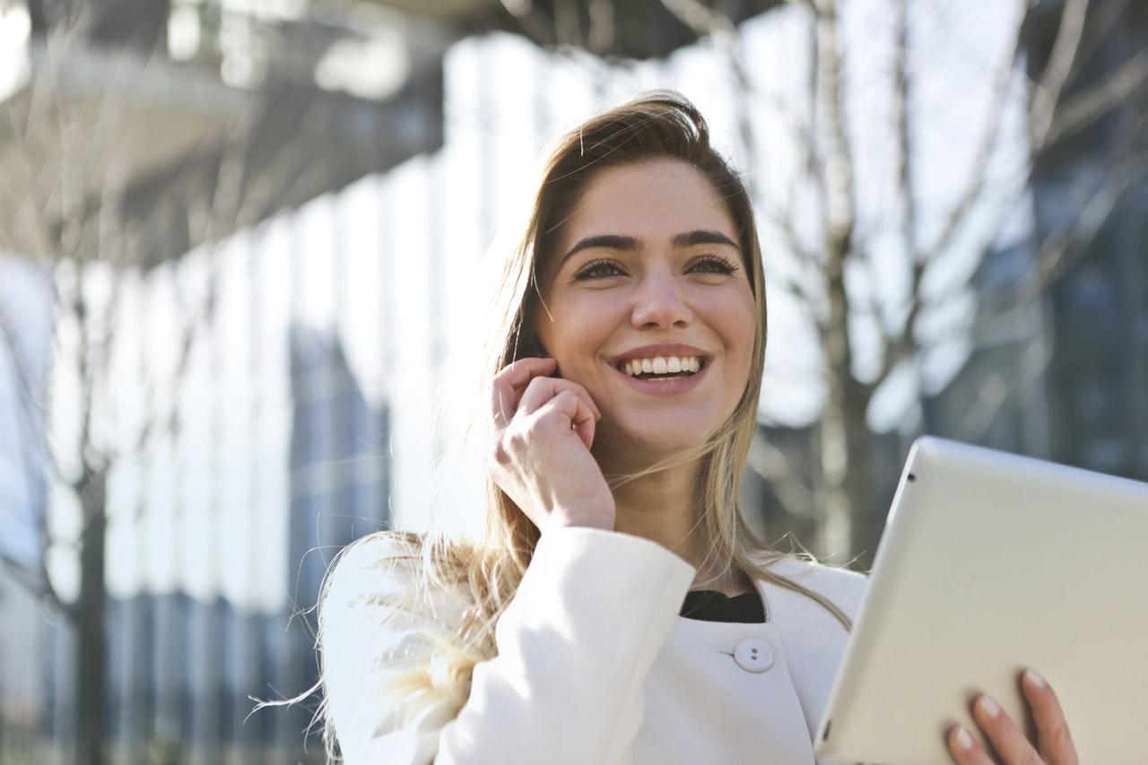 job seeking success - happy girl