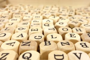 letter cubes - resume keywords