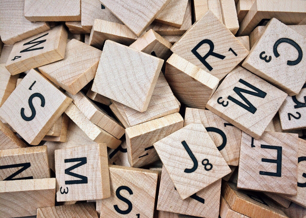 scrabble tiles - resume keywords