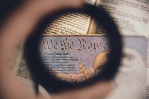 Trump Immigration Policy Viewfinder with text in the middle