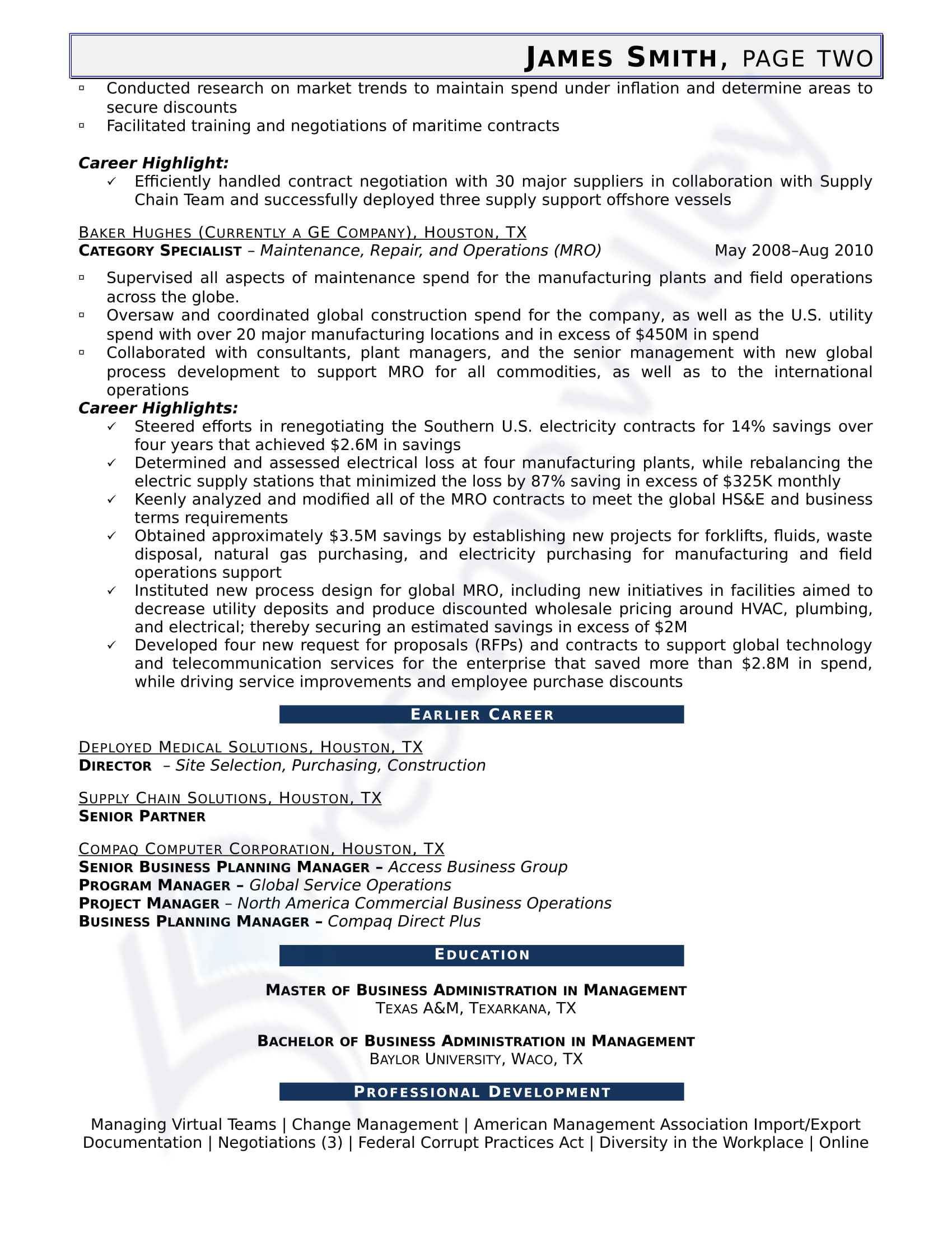 Global Category Manager Network Administrator Civilian Resume