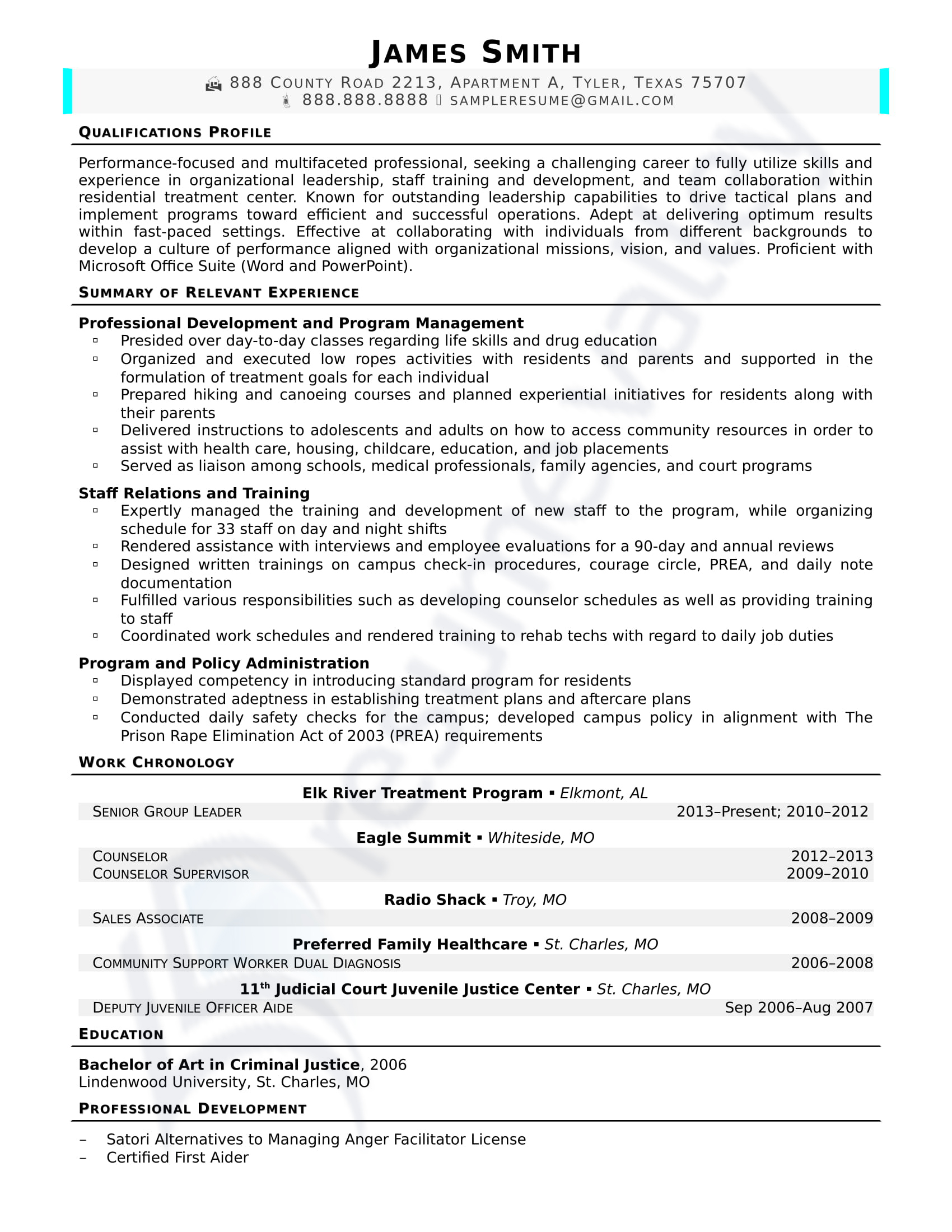 Senior Group Leader_Civilian Resume