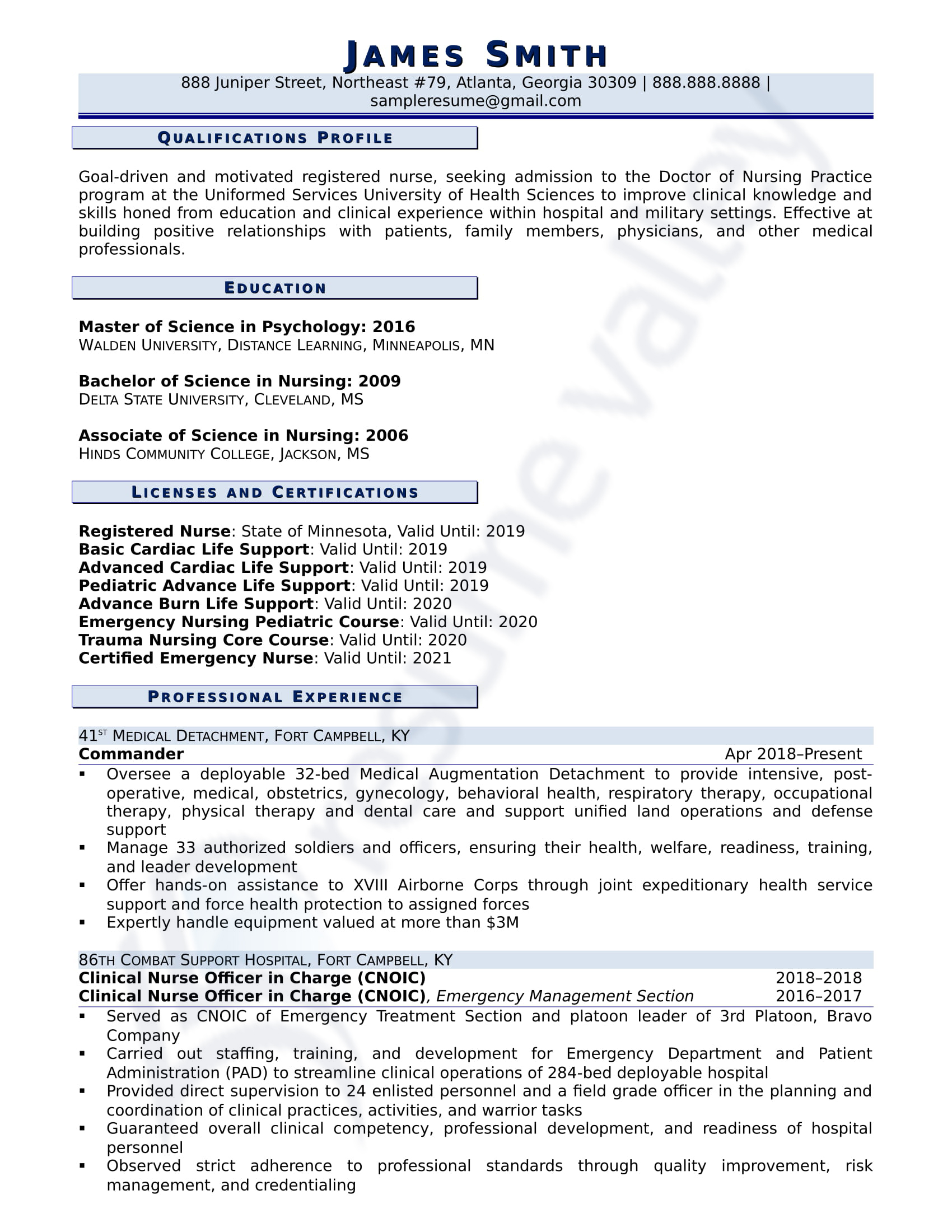 Director of Nursing_Curriculum Vitae