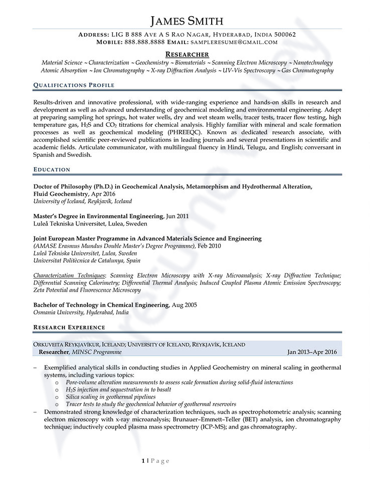 Researcher_Curriculum Vitae