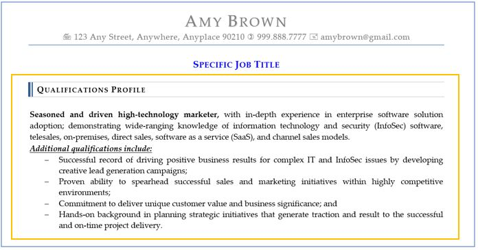 Qualifications Summary Resume Sections  Can be Stylish