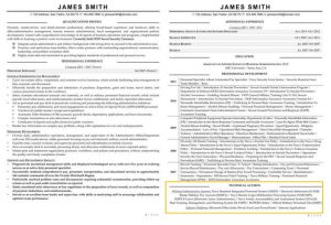 Resume Sections like Areas of Expertise can be put at the latter part of resume