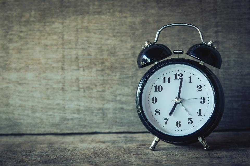 Good work habits: Being punctual adds to your professionalism.