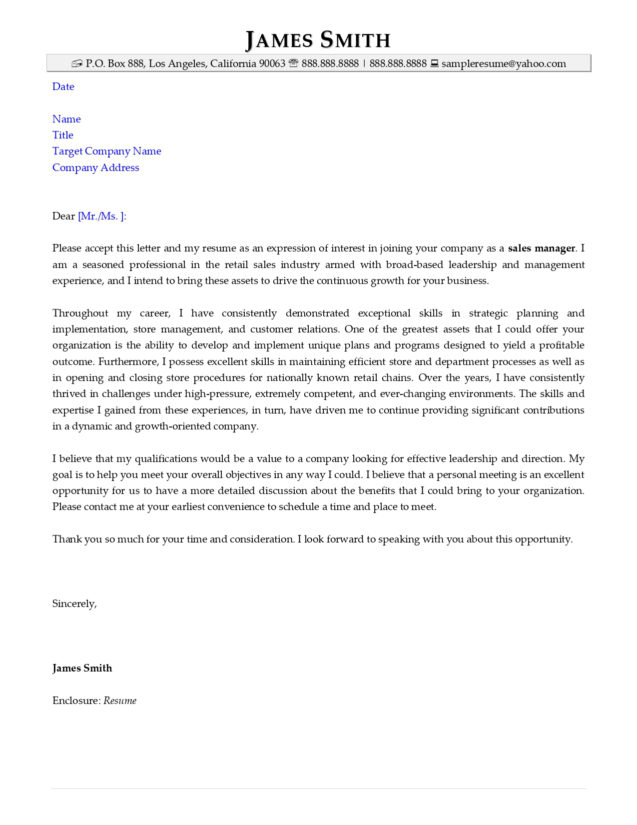Application resume cover letter sample from Resume Valley