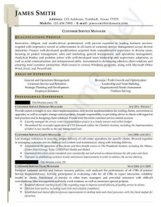 Civilian Resume - Customer Service Manager