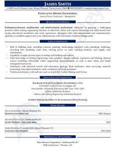 Civilian Resume - Entry Level Engineer
