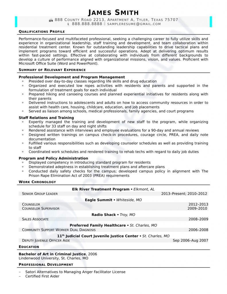 Civilian Resume - Senior Group Leader