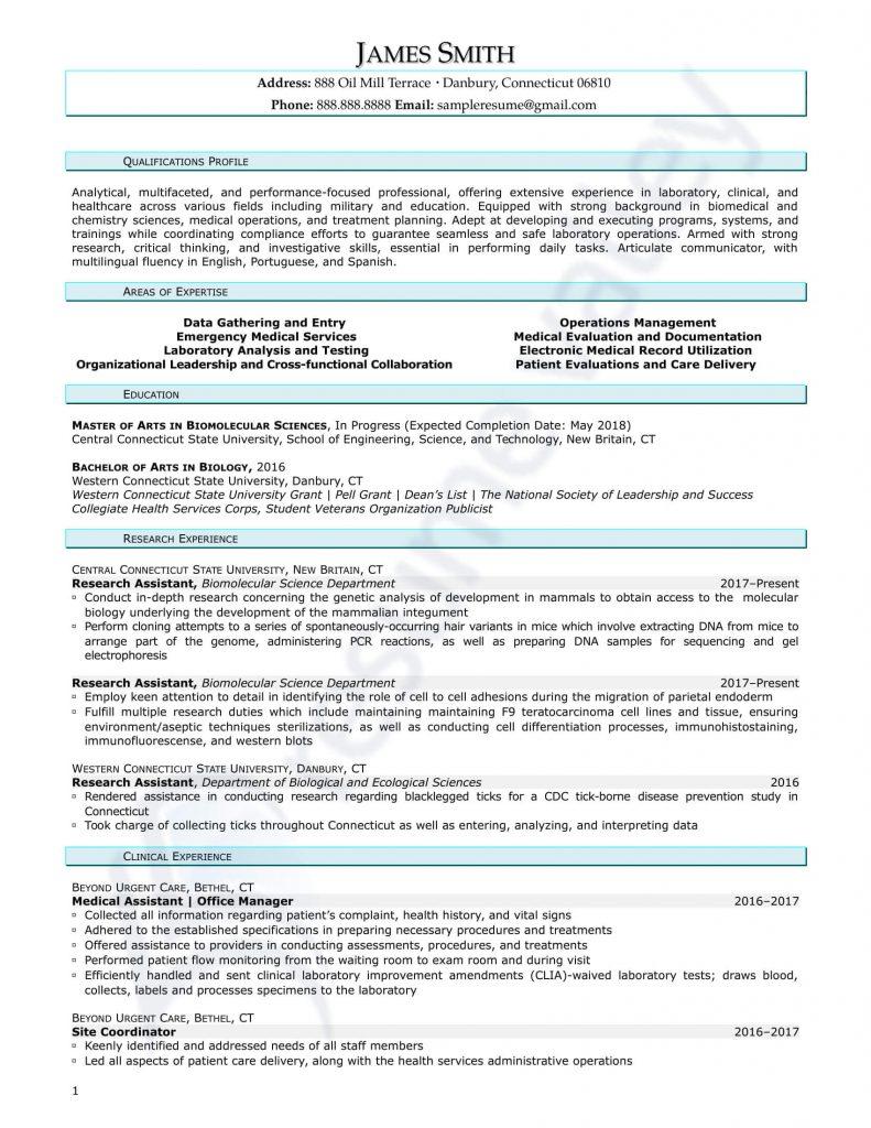 Curriculum Vitae - Biomolecular Scientist
