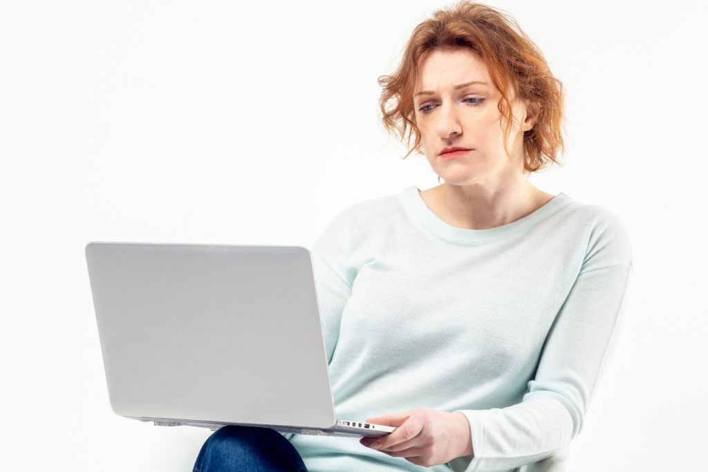 woman waiting to hear back after an interview