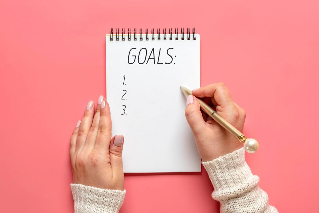 writing career goals on paper